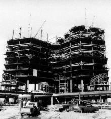 University Hospital under Construction in the Late 1970s